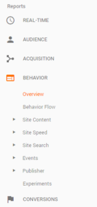 Google Analytics Overview screenshot